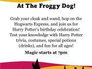 The Froggy Dog Restaurant & Pub, Harry Potter Trivia Challenge